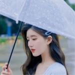 打伞伤感落寞女生头像图片