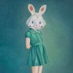 兔子头女生内涵头像图片