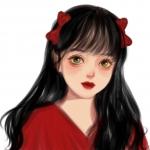 红唇红衣古风女生头像图片