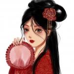 红妆古风动漫女生头像图片