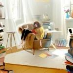 窝在沙发看书头像图片,浪漫而柔软的慵懒,只为放松