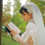 小清新婚纱女生真人头像 高清唯美婚纱照美女图片